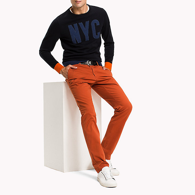 TOMMY HILFIGER Slim Fit Chino - FOSSIL - TOMMY HILFIGER Clothing - detail image 4