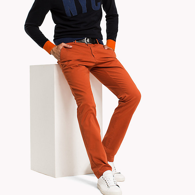 TOMMY HILFIGER Slim Fit Chino - FOSSIL - TOMMY HILFIGER Clothing - main image