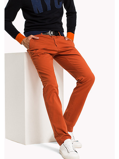 TOMMY HILFIGER Slim Fit Chino - ROOIBOS TEA - TOMMY HILFIGER Hosen - main image