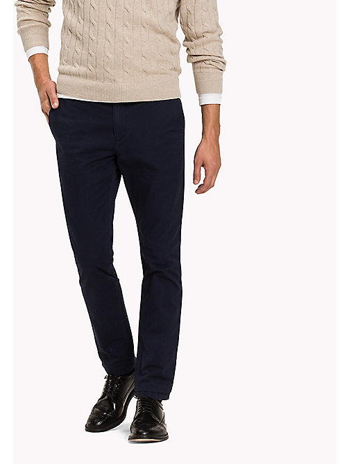 TOMMY HILFIGER Slim Fit Chino - PEACOAT - TOMMY HILFIGER Hosen - main image