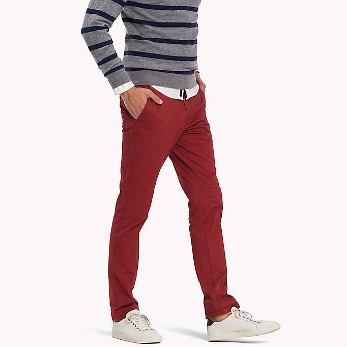 TOMMY HILFIGER Slim Fit Chino - CHIPMUNK - TOMMY HILFIGER Clothing - detail image 2