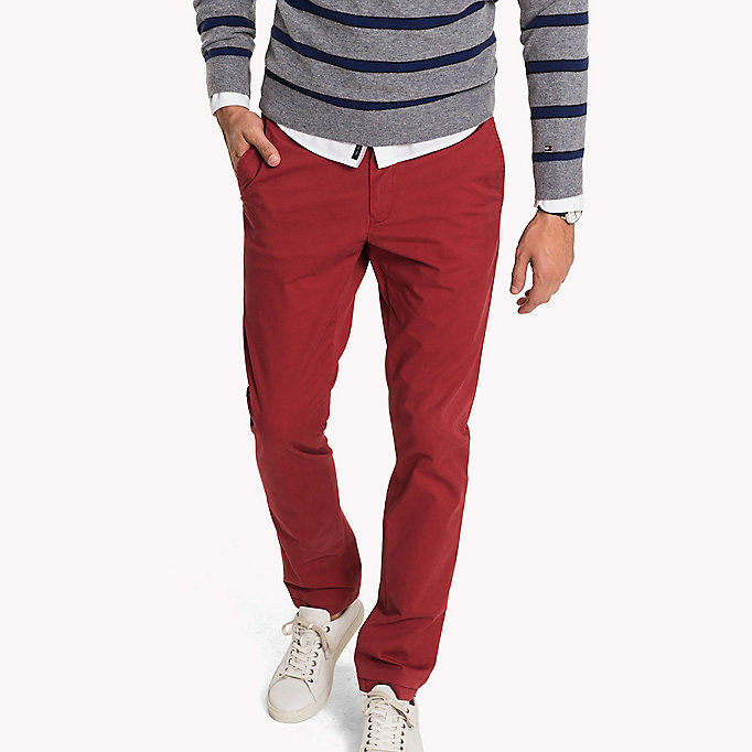 TOMMY HILFIGER Slim Fit Chino - CHIPMUNK - TOMMY HILFIGER Clothing - main image