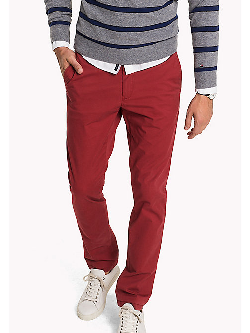 TOMMY HILFIGER Slim Fit Chino - RIO RED - TOMMY HILFIGER Hosen - main image
