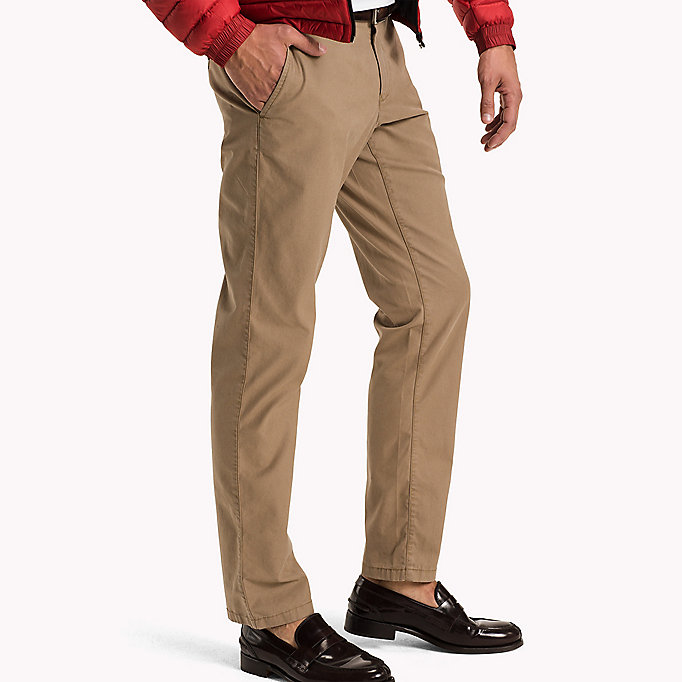 TOMMY HILFIGER Regular Fit Chinos - WALNUT - TOMMY HILFIGER Clothing - detail image 2