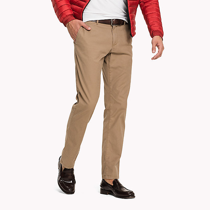 TOMMY HILFIGER Regular Fit Chinos - WALNUT - TOMMY HILFIGER Clothing - main image