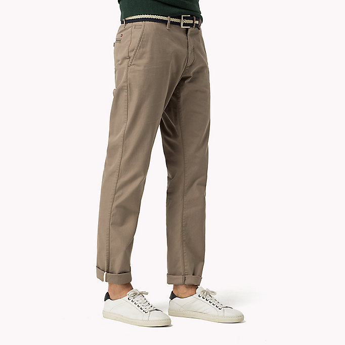 TOMMY HILFIGER Regular Fit Chinos - BATIQUE KHAKI - TOMMY HILFIGER Clothing - detail image 2