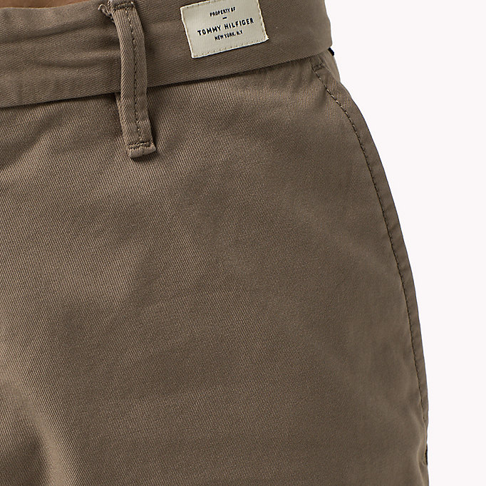 TOMMY HILFIGER Regular Fit Chinos - BATIQUE KHAKI - TOMMY HILFIGER Clothing - detail image 3