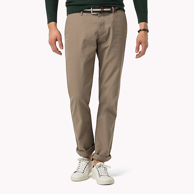 TOMMY HILFIGER Regular Fit Chinos - BATIQUE KHAKI - TOMMY HILFIGER Clothing - main image