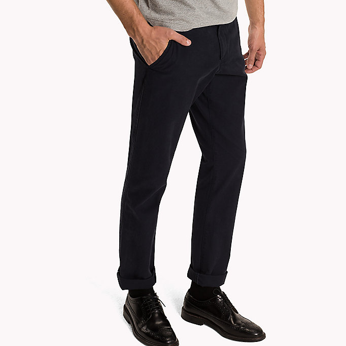 TOMMY HILFIGER Regular Fit Chinos - LEAD GRAY - TOMMY HILFIGER Clothing - detail image 2