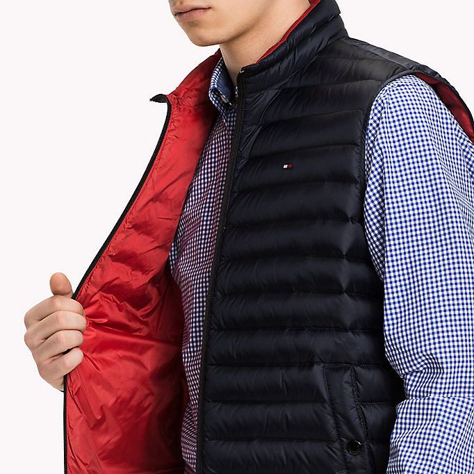 TOMMY HILFIGER Packable Down Gilet - FLAME - TOMMY HILFIGER Clothing - detail image 3