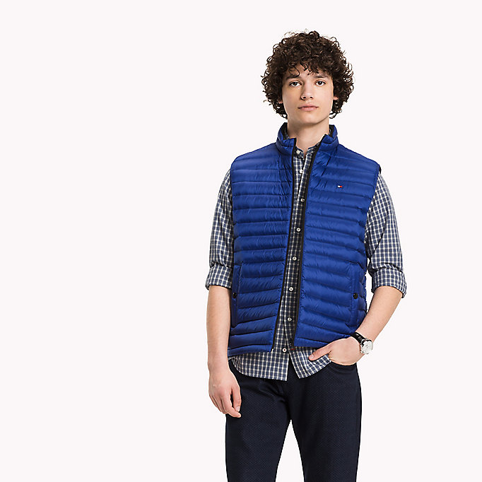 TOMMY HILFIGER Packable Down Gilet - SILVER - TOMMY HILFIGER Clothing - main image