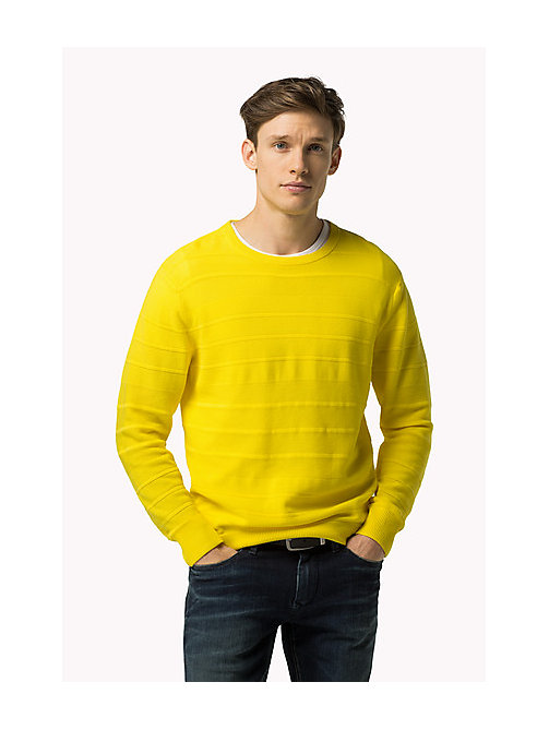 TOMMY HILFIGER Regular Fit Pullover - BLAZING YELLOW - TOMMY HILFIGER Kleidung - main image