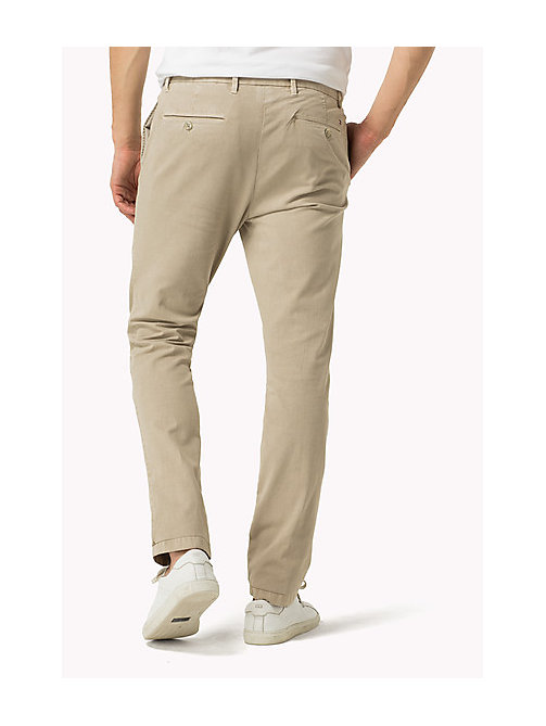 TOMMY HILFIGER Straight Fit Chinos - SILVER LINING - TOMMY HILFIGER Clothing - detail image 1