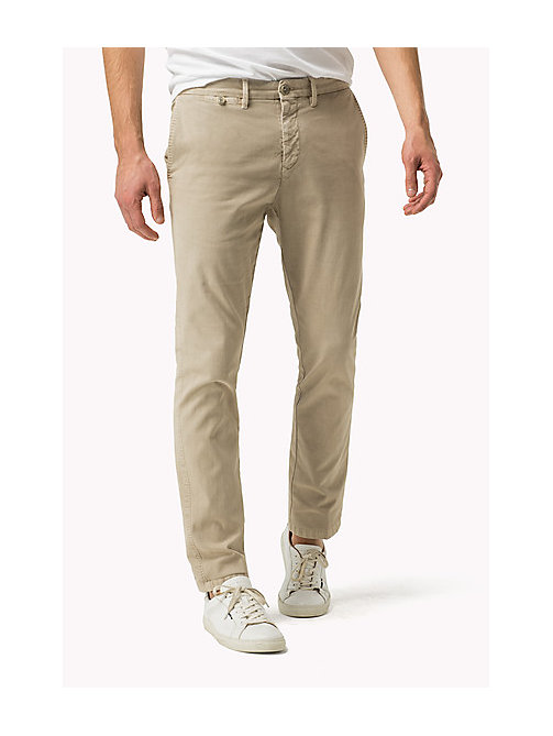 TOMMY HILFIGER Straight Fit Chinos - SILVER LINING - TOMMY HILFIGER Clothing - main image