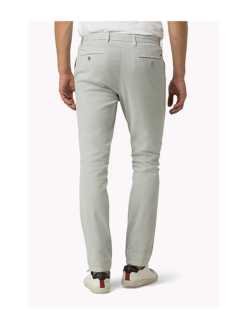 TOMMY HILFIGER Straight Fit Chinos - QUIET GRAY - TOMMY HILFIGER Clothing - detail image 1