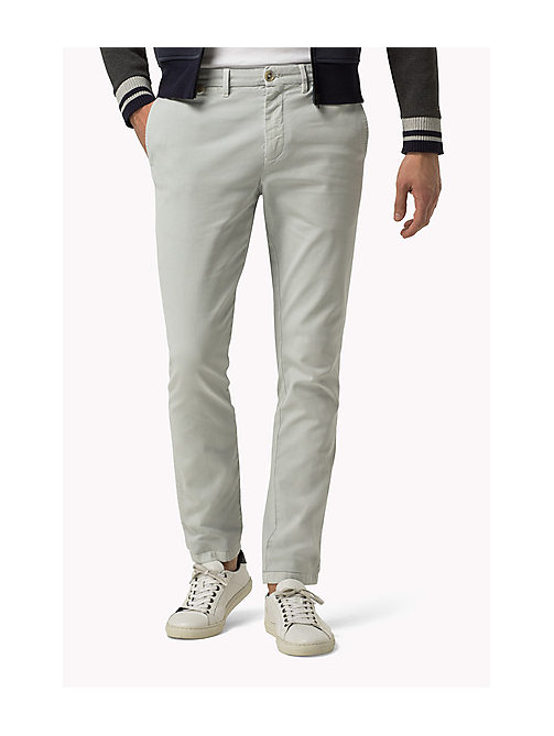 TOMMY HILFIGER Straight Fit Chinos - QUIET GRAY - TOMMY HILFIGER Clothing - main image