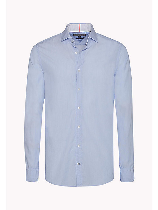 TOMMY HILFIGER Slim Fit Poplin Striped Shirt - BRIGHT WHITE / ESTATE BLUE - TOMMY HILFIGER Shirts - detail image 1