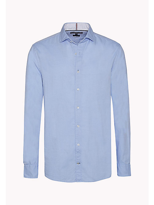 TOMMY HILFIGER Fitted Dobby Shirt - SHIRT BLUE / BRIGHT WHITE - TOMMY HILFIGER Shirts - detail image 1