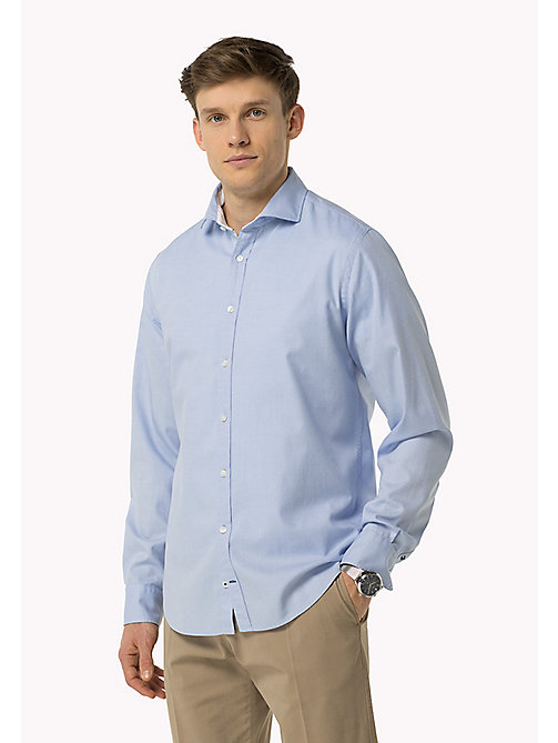 TOMMY HILFIGER Fitted Dobby Shirt - SHIRT BLUE / BRIGHT WHITE - TOMMY HILFIGER Shirts - main image