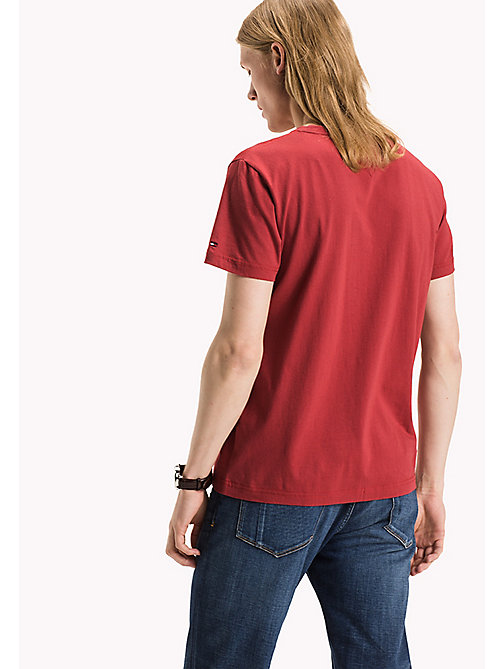 TOMMY HILFIGER Tartan-T-Shirt in Ton-in-Ton - RIO RED - TOMMY HILFIGER T-Shirts - main image 1