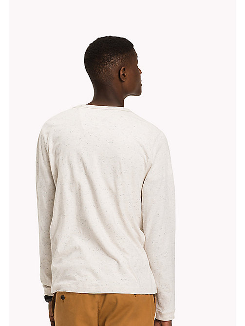 TOMMY HILFIGER Long Sleeved T-Shirt - BONE WHITE HEATHER - TOMMY HILFIGER T-Shirts - detail image 1