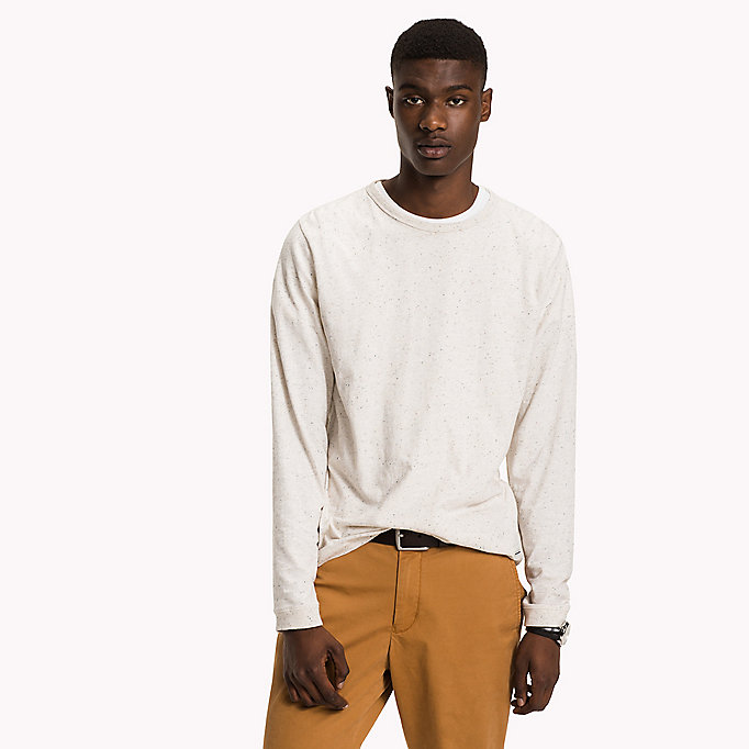 TOMMY HILFIGER Long Sleeved T-Shirt - CLOUD HTR - TOMMY HILFIGER Clothing - main image
