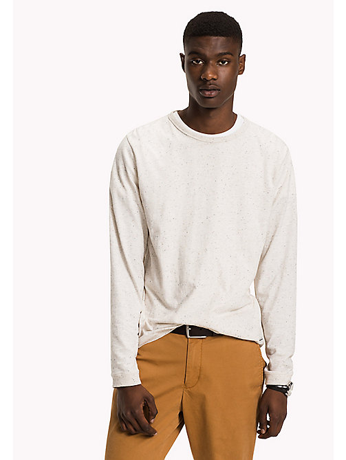 TOMMY HILFIGER Long Sleeved T-Shirt - BONE WHITE HEATHER - TOMMY HILFIGER T-Shirts - main image