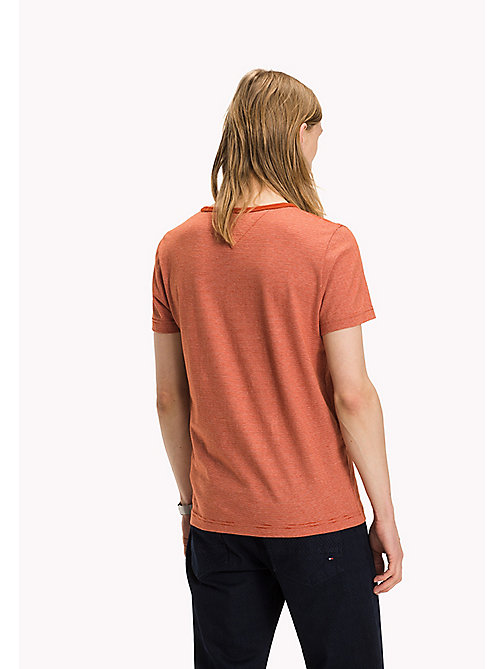 TOMMY HILFIGER Cotton Jersey Striped T-Shirt - ROOIBOS TEA - TOMMY HILFIGER T-Shirts - detail image 1
