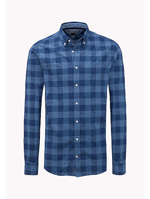 TOMMY HILFIGER Cotton Chambray Checked Shirt - ESTATE BLUE / MULTI - TOMMY HILFIGER Shirts - detail image 1