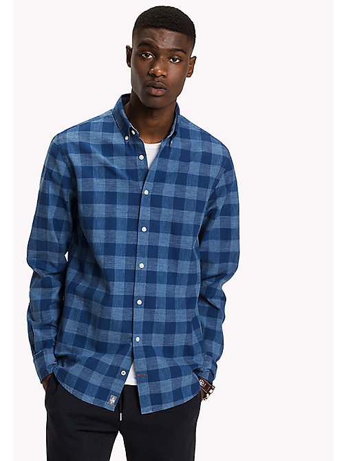 TOMMY HILFIGER Cotton Chambray Checked Shirt - ESTATE BLUE / MULTI - TOMMY HILFIGER Shirts - main image
