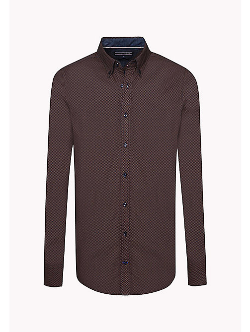 TOMMY HILFIGER Slim Fit Printed Shirt - PEACOAT / MONKS ROBE - TOMMY HILFIGER Shirts - detail image 1