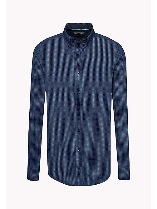 TOMMY HILFIGER Slim Fit Printed Shirt - PEACOAT / CORONET BLUE - TOMMY HILFIGER Shirts - detail image 1