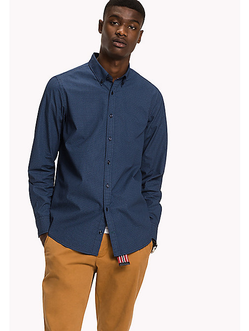 TOMMY HILFIGER Slim Fit Printed Shirt - PEACOAT / CORONET BLUE - TOMMY HILFIGER Shirts - main image
