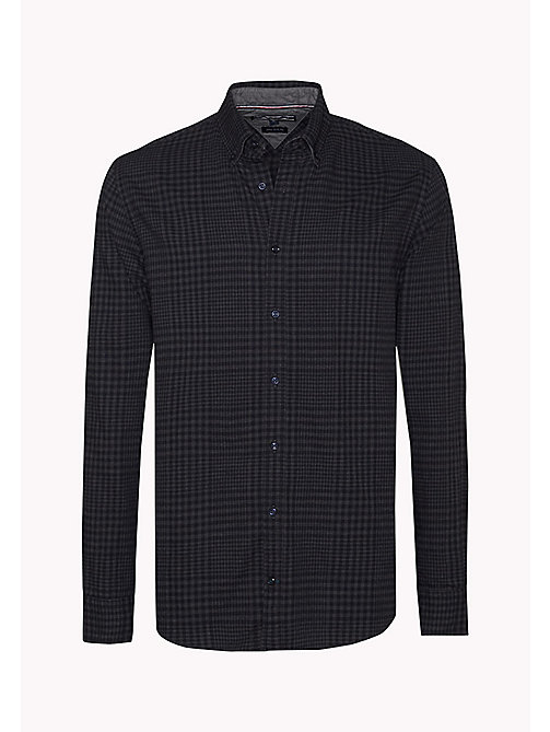 TOMMY HILFIGER Fitted Check Shirt - PEACOAT / SILVER FOG HTR - TOMMY HILFIGER Shirts - detail image 1