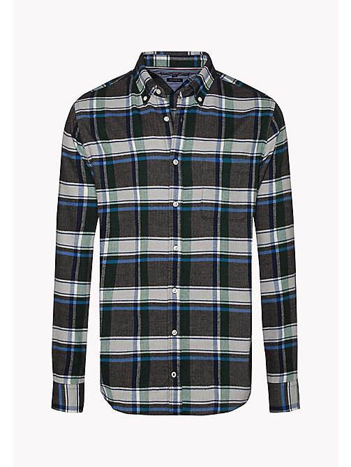 TOMMY HILFIGER Fitted Check Shirt - GRANITE GRAY / MULTI - TOMMY HILFIGER Shirts - detail image 1