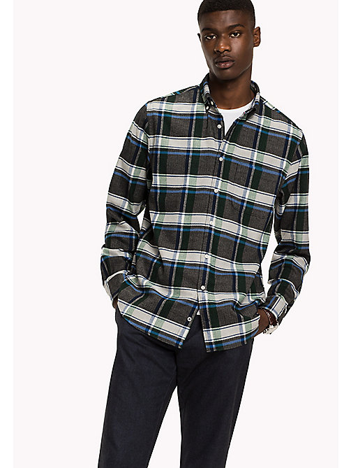 TOMMY HILFIGER Fitted Check Shirt - GRANITE GRAY / MULTI - TOMMY HILFIGER Shirts - main image
