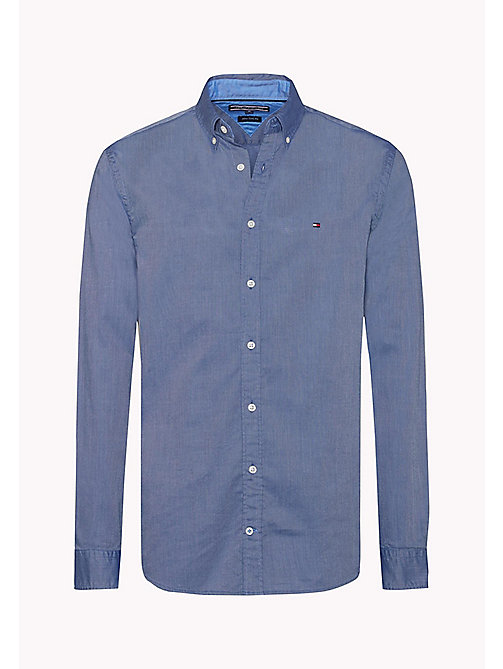 TOMMY HILFIGER Fitted Dobby Shirt - ESTATE BLUE - TOMMY HILFIGER Shirts - detail image 1