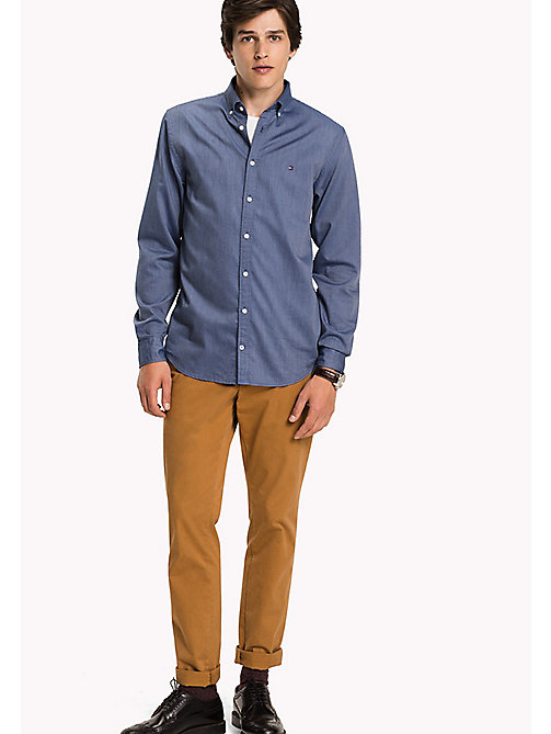 TOMMY HILFIGER Fitted Dobby Shirt - ESTATE BLUE - TOMMY HILFIGER Shirts - main image