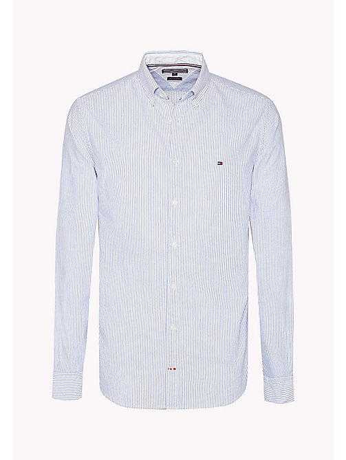 TOMMY HILFIGER Striped Fitted Shirt - SHIRT BLUE / BRIGHT WHITE - TOMMY HILFIGER Shirts - detail image 1