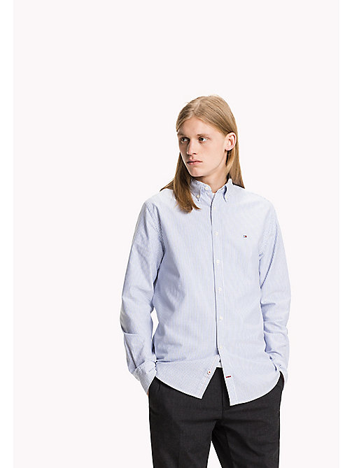 TOMMY HILFIGER Striped Fitted Shirt - SHIRT BLUE / BRIGHT WHITE - TOMMY HILFIGER Shirts - main image