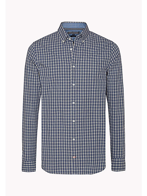 TOMMY HILFIGER Slim Fit Check Shirt - DARK BLUE HTR / MULTI - TOMMY HILFIGER Shirts - detail image 1