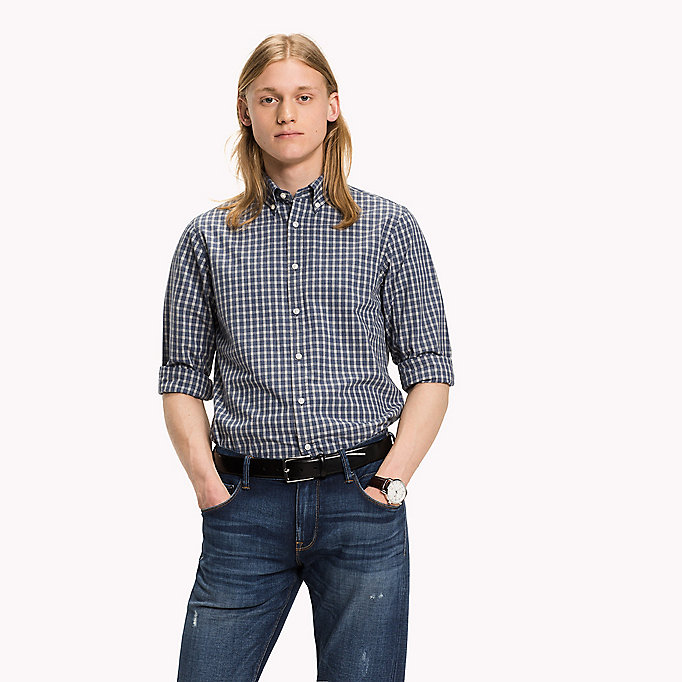 TOMMY HILFIGER Slim Fit Check Shirt - CLOUD HTR / MULTI - TOMMY HILFIGER Clothing - main image