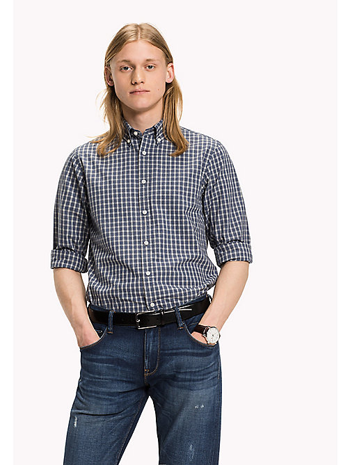 TOMMY HILFIGER Slim Fit Check Shirt - DARK BLUE HTR / MULTI - TOMMY HILFIGER Shirts - main image