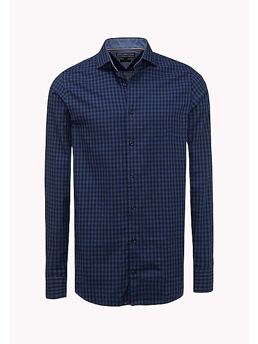 TOMMY HILFIGER Slim Fit Gingham Check Shirt - TRUE NAVY - TOMMY HILFIGER Shirts - detail image 1
