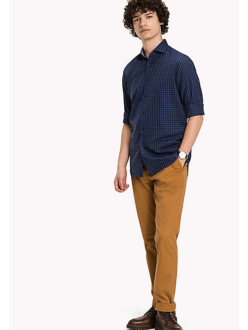 TOMMY HILFIGER Slim Fit Gingham Check Shirt - TRUE NAVY - TOMMY HILFIGER Shirts - main image