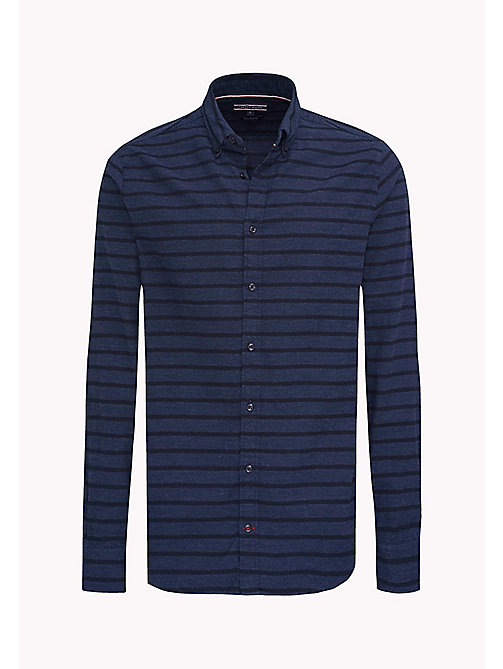 TOMMY HILFIGER Fitted Stripe Shirt - SKY CAPTAIN HEATHER - TOMMY HILFIGER Shirts - detail image 1