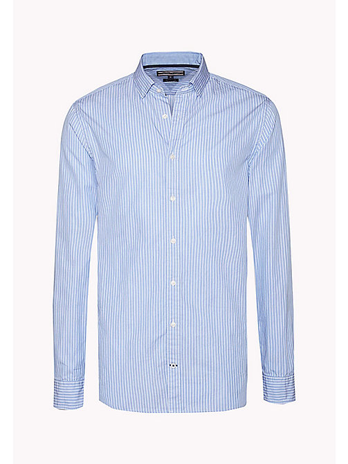 TOMMY HILFIGER Fitted Striped Shirt - SHIRT BLUE / BRIGHT WHITE - TOMMY HILFIGER Shirts - detail image 1