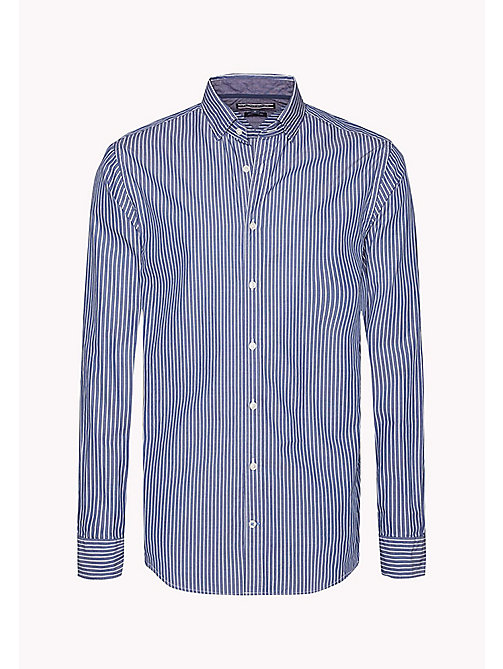TOMMY HILFIGER Fitted Striped Shirt - ESTATE BLUE / BRIGHT WHITE - TOMMY HILFIGER Shirts - detail image 1