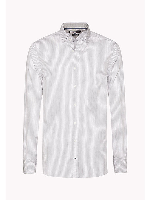 TOMMY HILFIGER Fitted Striped Shirt - CLOUD HTR / BRIGHT WHITE - TOMMY HILFIGER Shirts - detail image 1