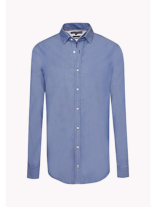 TOMMY HILFIGER Dobby Slim Fit Shirt - ESTATE BLUE - TOMMY HILFIGER Shirts - detail image 1